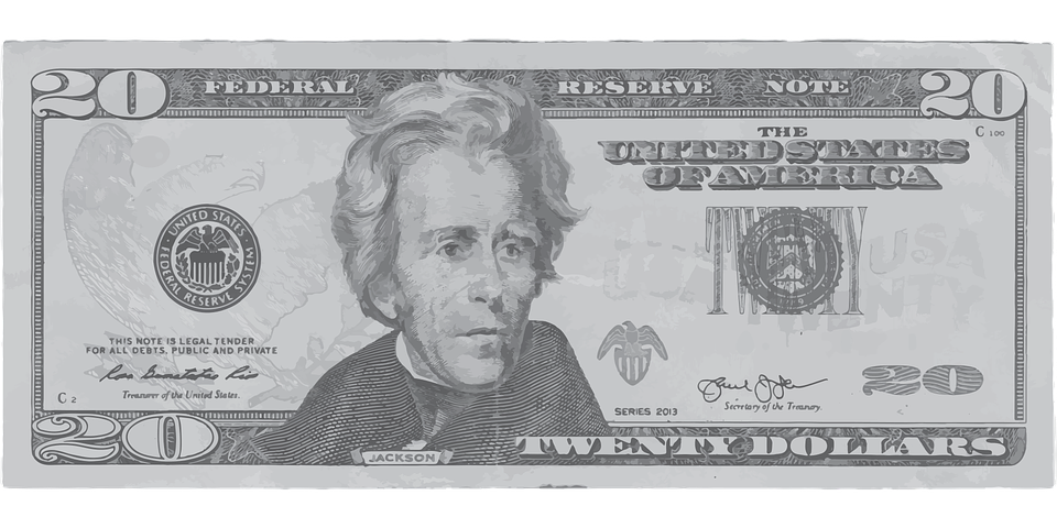 Dollar, Twenty, Money, Andrew, Jackson, Andrew Jackson