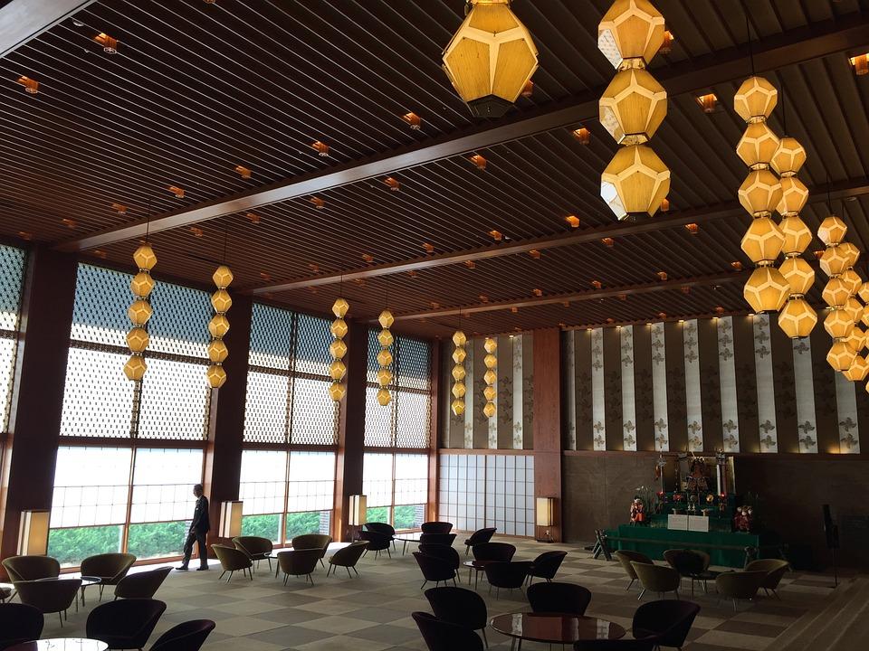 Japan Zimmer Laternen Tokio Innenraum Holz