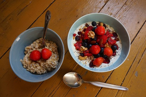 Breakfast, Bowl, Soy, Yoghurt, Fruit