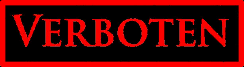 Verboten, Stempel, Zeichen