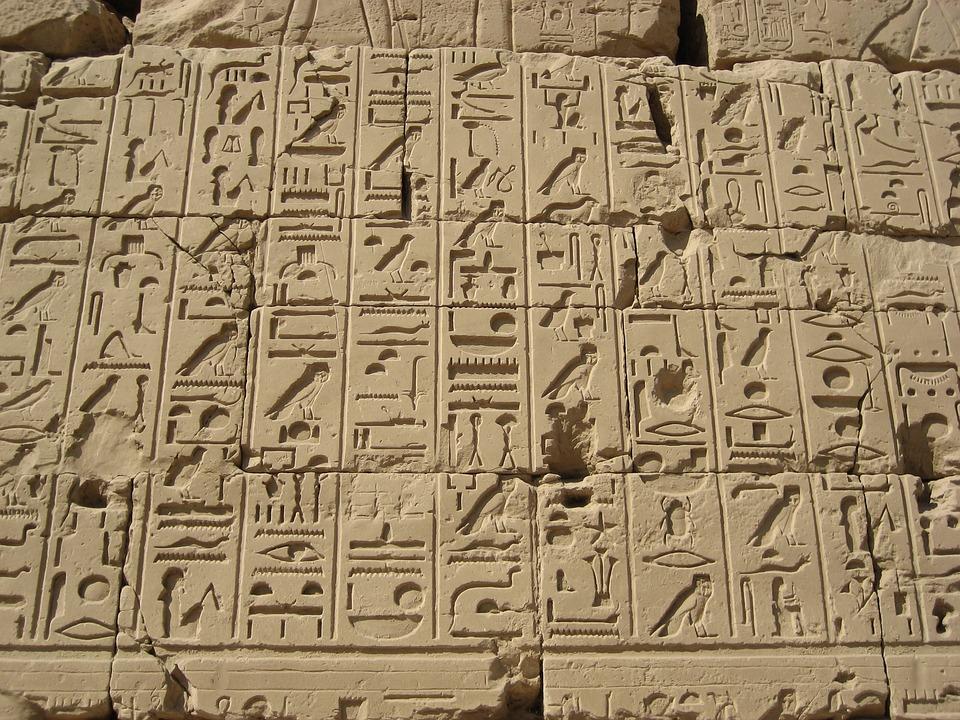 Hieroglyphics egypt luxor free photo on pixabay for Inscription d et co