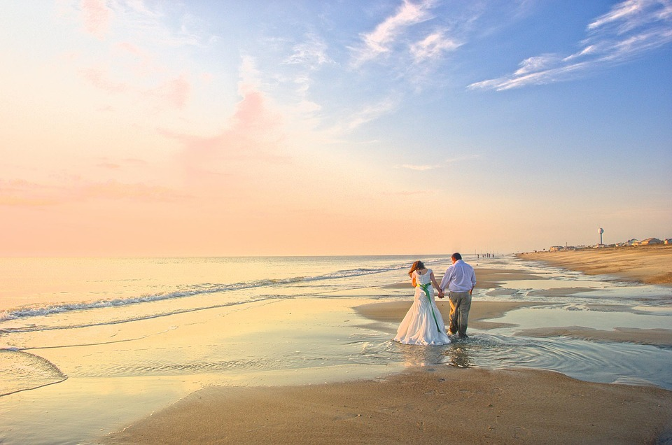 Free Photo: Wedding, Boyfriend, Beach, Sunset