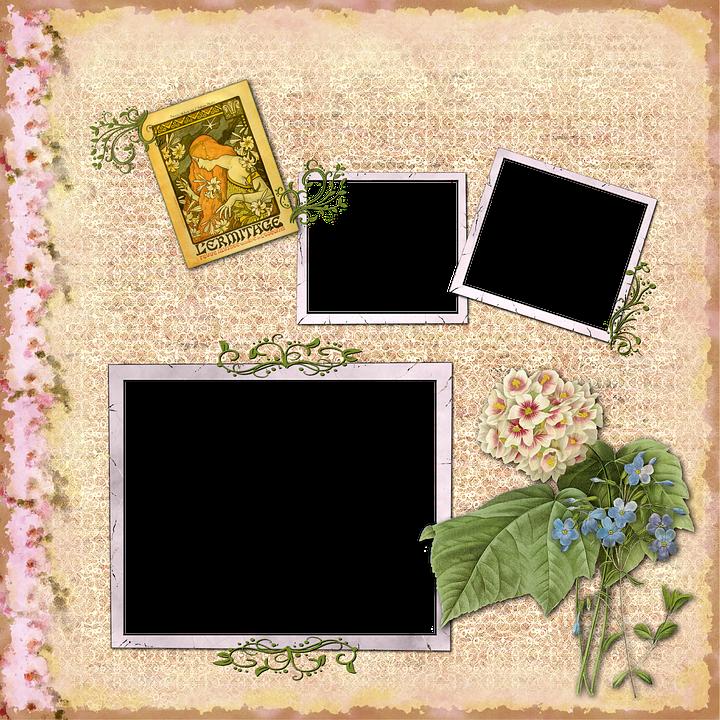 Aussie Mum Gardening From Scrap: Free Illustration: Scrapbook, Scrap, Background, Page