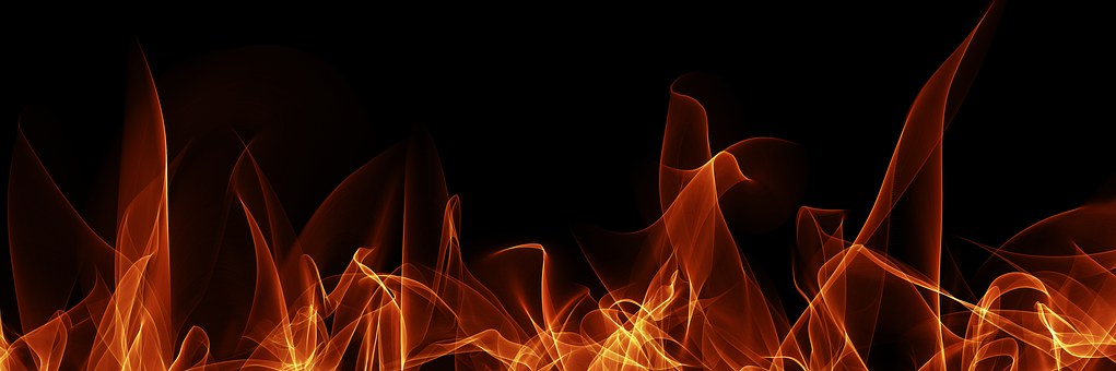 Flame Fire Abstract Burn Background Bright