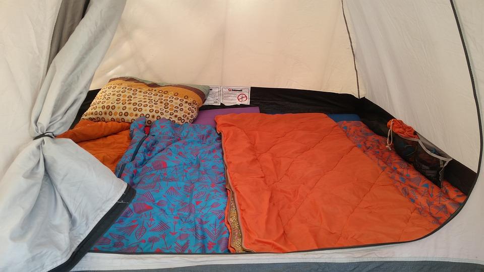 テント, 寝袋, キャンプ