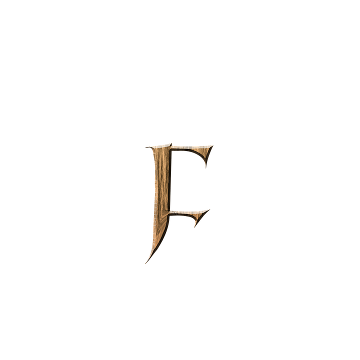 Wooden F, F, Letter, Letter F, Wooden, Text, Font,