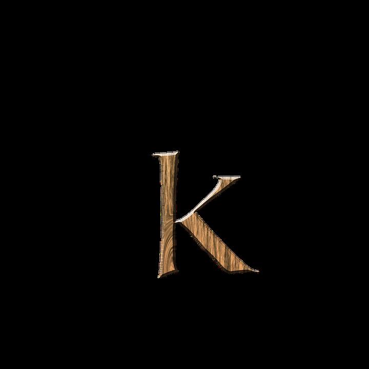 Free Illustration Wooden K K Letter Letter K Free
