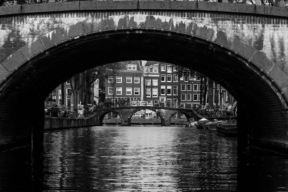 Iets Nieuws Amsterdam Zwart Wit Brug · Gratis foto op Pixabay &SV08