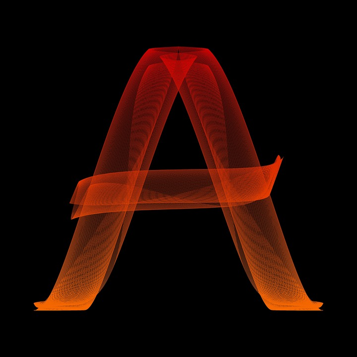 Free illustration Letter A Particles Alphabet Abc Free
