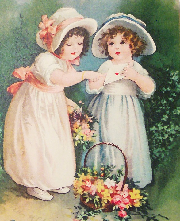 Free Illustration Vintage, Girl, Girls, Children - Free -8111