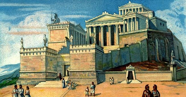 Acropolis, Athens, Greece, Antique, Old