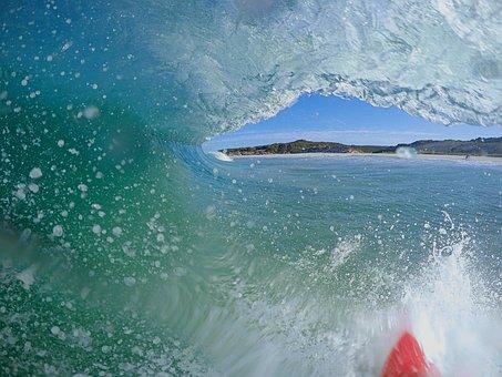 サーフィン, ウォータースポーツ, 海, 海岸, オーストラリア