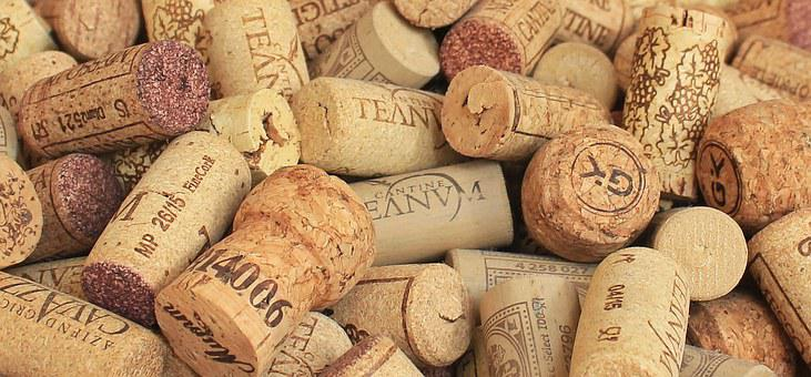 Champagne Cork Wine Corks Background Bottl