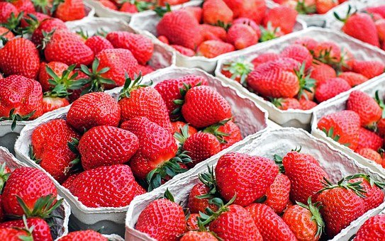 Strawberries Fruit Red Sweet Fruits Market