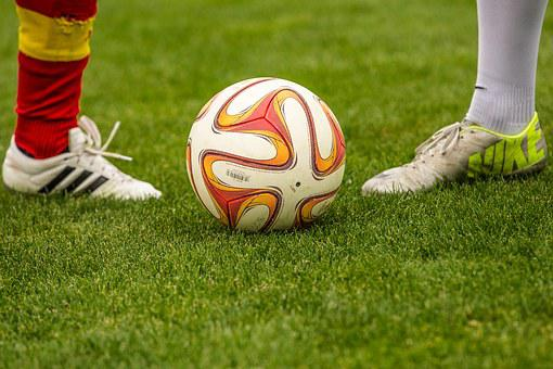 Football, Duel, Ball, Footballers
