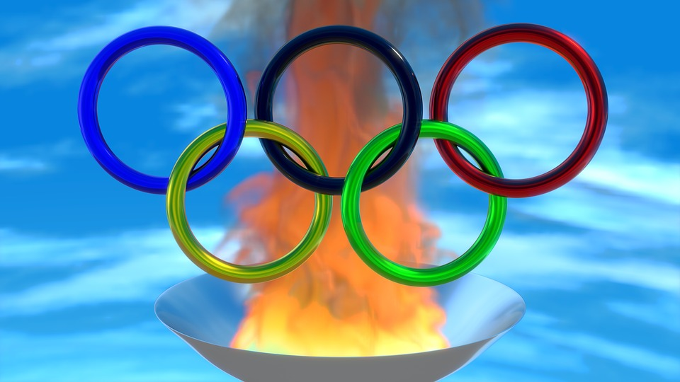 Deporte, Olimpiada, Anillos, Fuego, 3D, Licuadora