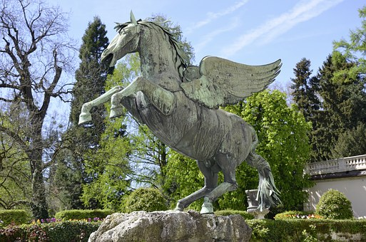 Salzburg, Pegasus, Horse, Fluegelross