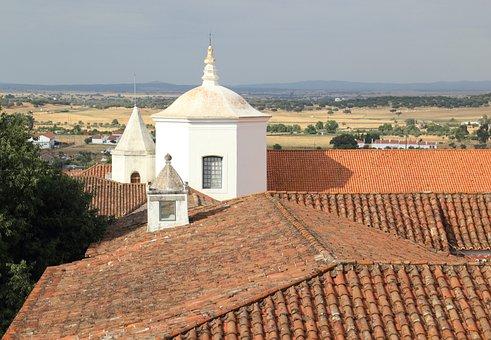 Portugal, Evora, Roof, Rooftop