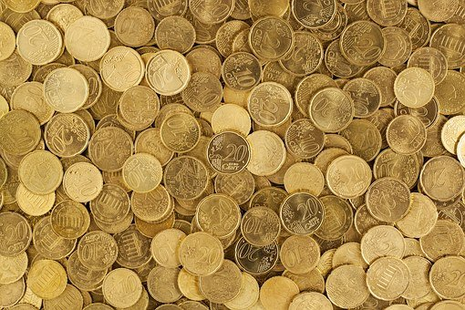 Euro, Coins, Currency, Money, Yellow