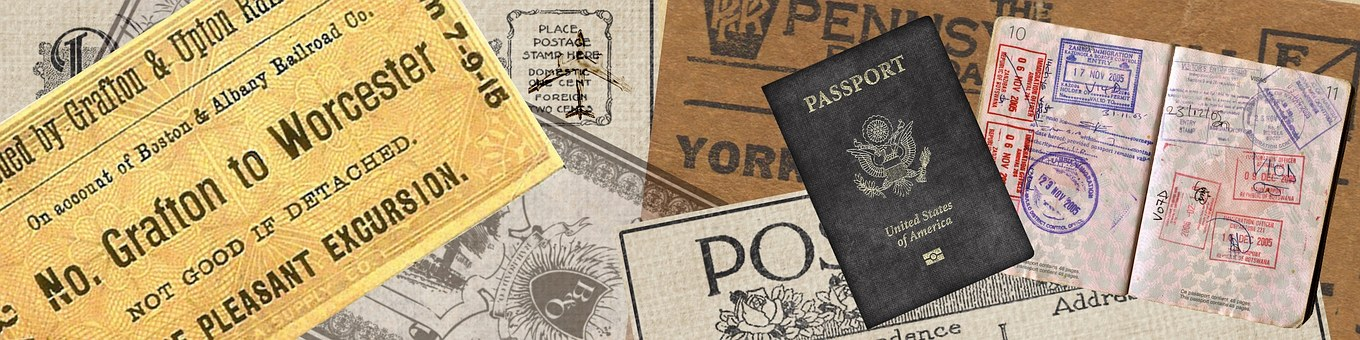 Banner, Web, Travel, Tourism, Vintage