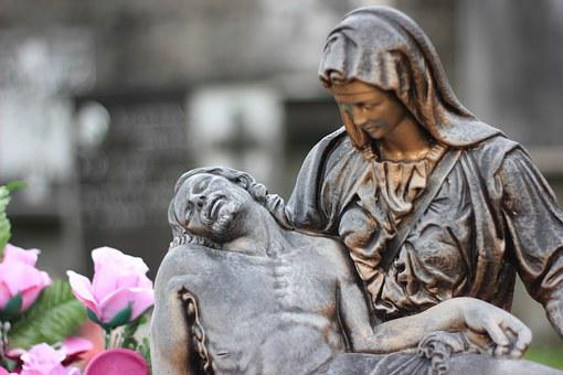 Italy, Cemetery, Statue, Jesus Christ