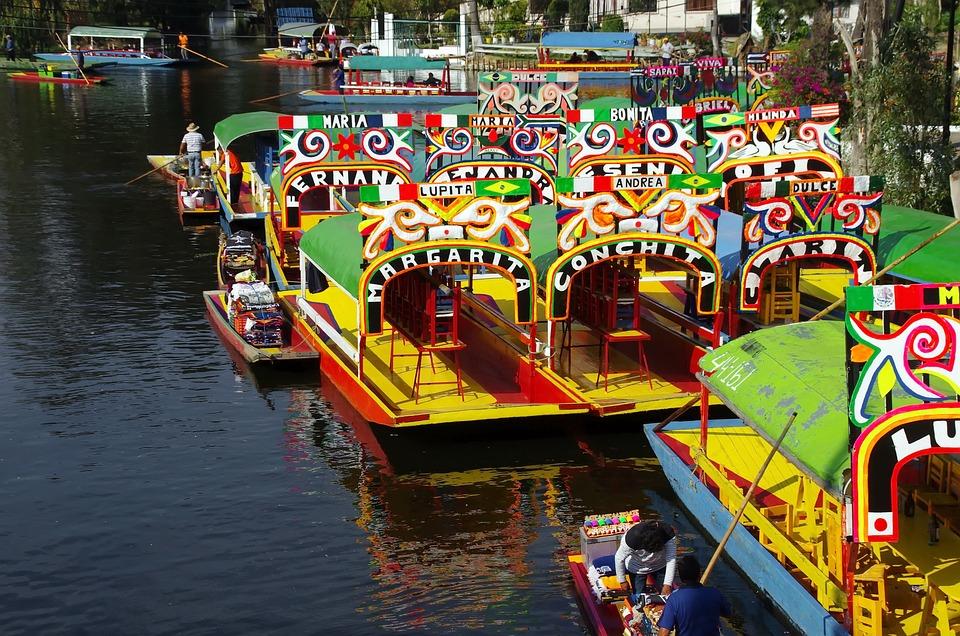 México, Lago, Xochimilco, Barcos, Navegación, Taberna