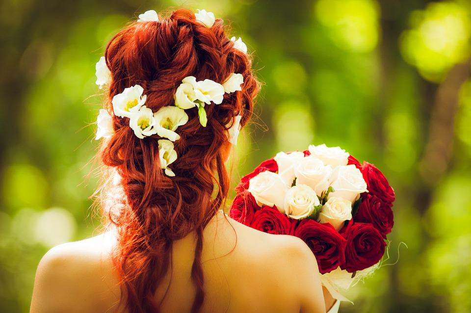 Sposa, Sposare, Nozze, Capelli Rossi, Rose Rosse