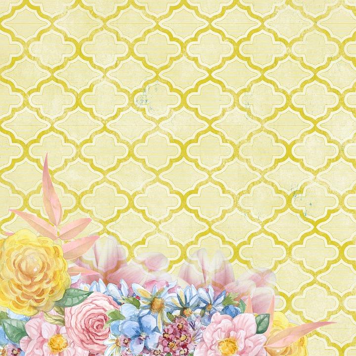 Yellow Flower Scrapbook Free Image On Pixabay