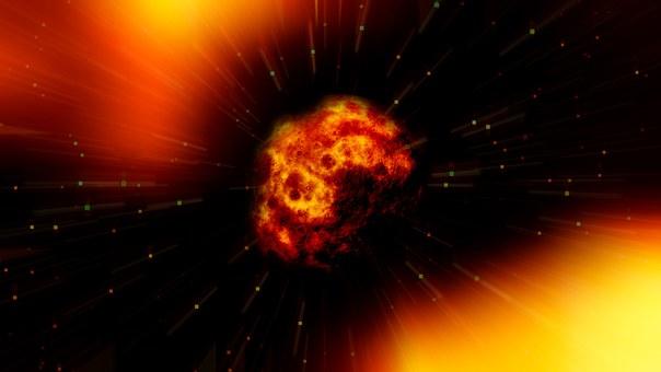 Fireball, Asteroid, Explosion, Disaster