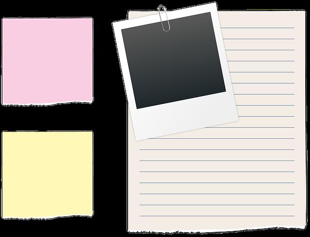 list polaroid paperclip  u00b7 free vector graphic on pixabay