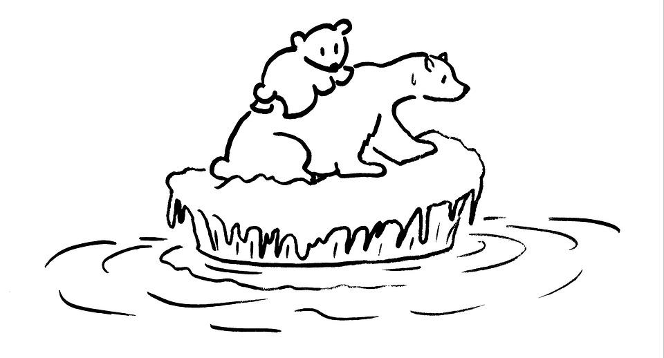 Global Warming, Polar Bear, Environment, Parent Child