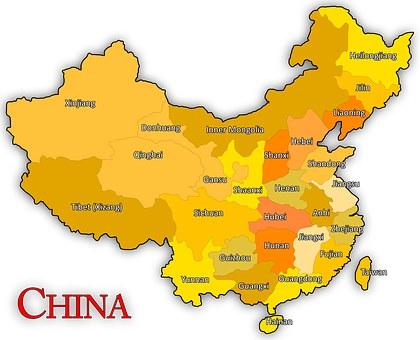 China Karte Chinesisch Welt Globus China K