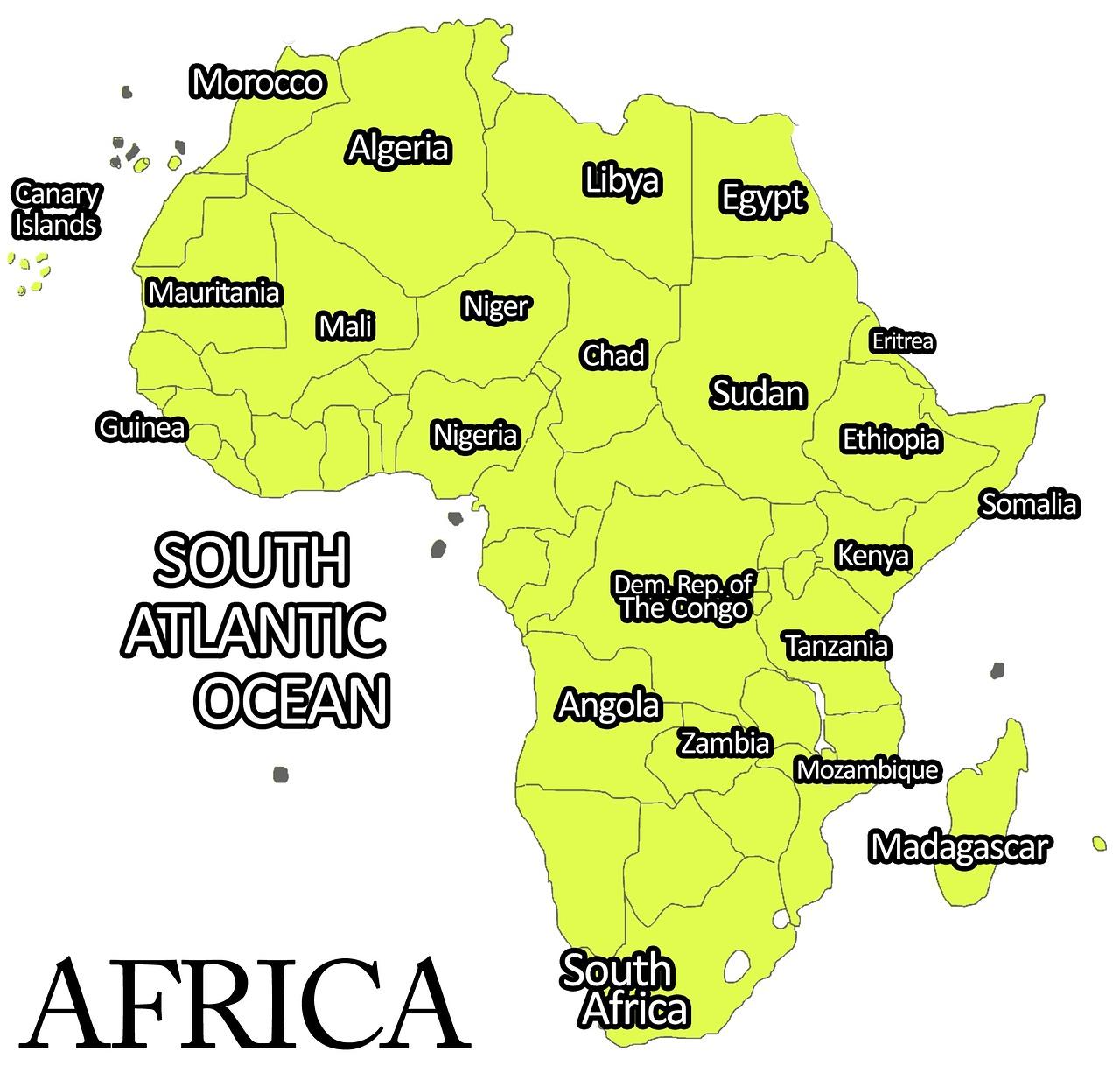 Afrika Benua Peta Africa Gambar Gratis Di Pixabay