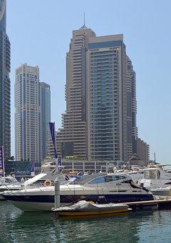 U A E, Dubai, Sea, Water, Boats