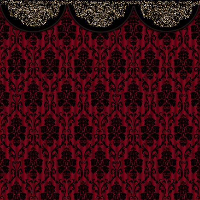 Free Illustration Scrapbook Background Curtain Free