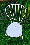 chair, white, garden
