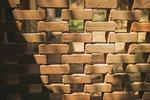 wall, bricks, shadow
