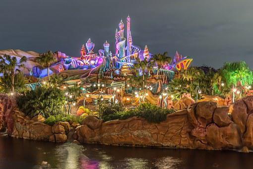 Disney, Disney Sea, Night View, Light
