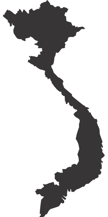 Vietnam map silhouette free vector graphic on pixabay vietnam map silhouette countries south east asia sciox Image collections
