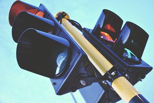 Traffic Light, Traffic, Blue