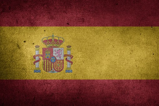 Flagge, Spanien, Europa, Grunge, Spanier