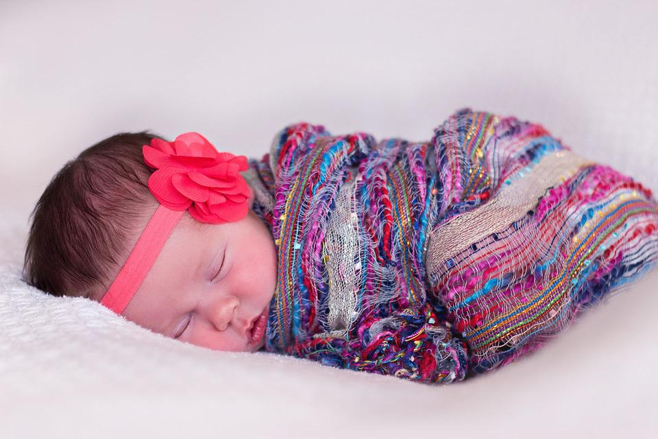 Newborn, Girl, Baby, Sleeping, Innocence