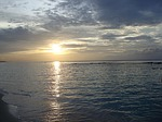 jamaica, beach, sunset