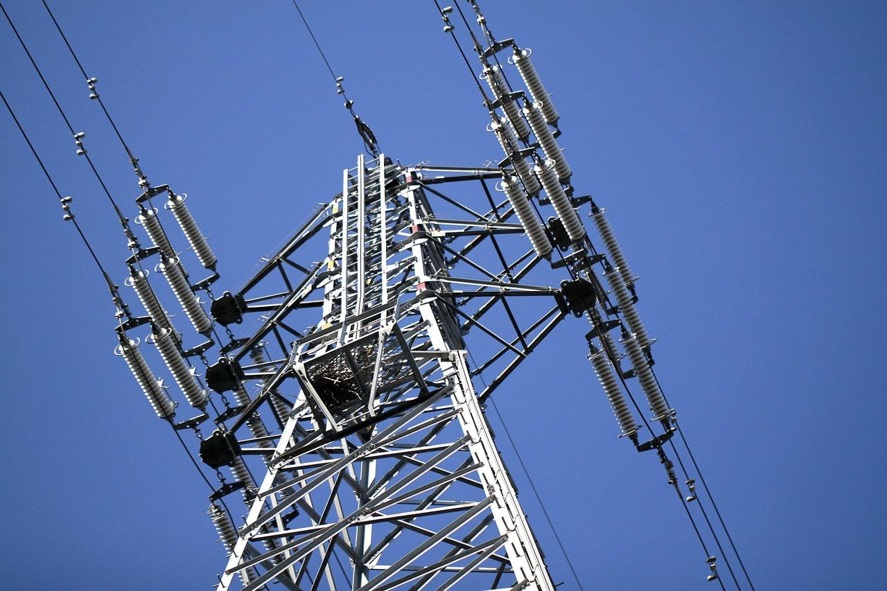 送電線, 高圧線, 鉄塔, 電線, 建造物, 鉄, 鉄骨, 送電鉄塔