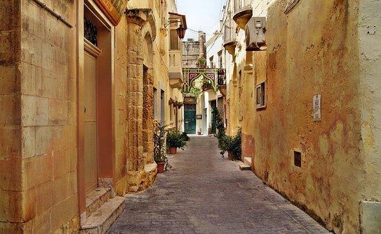 Malte, Ruelle, La Valette, Malte, Malte