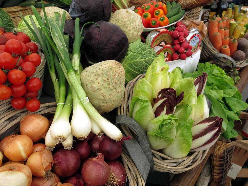 Verdure, Pomodori, Porro, Insalata, Cipolle, Sano