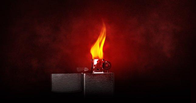 Flame, Lighter, Light, Burning, Kindle