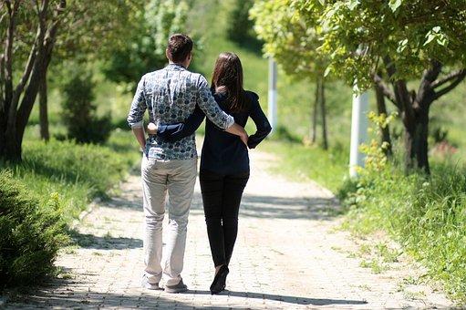Par, Amor, Caminar, Romántico, Parque