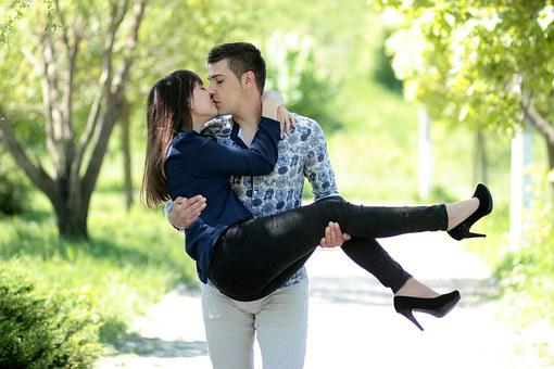 Kiss romantic Hot couple love