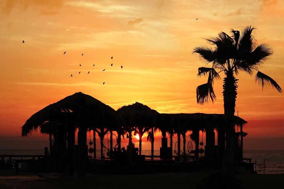 Sunset, Beach, Red, Beach Sunset, Sky, Vacation